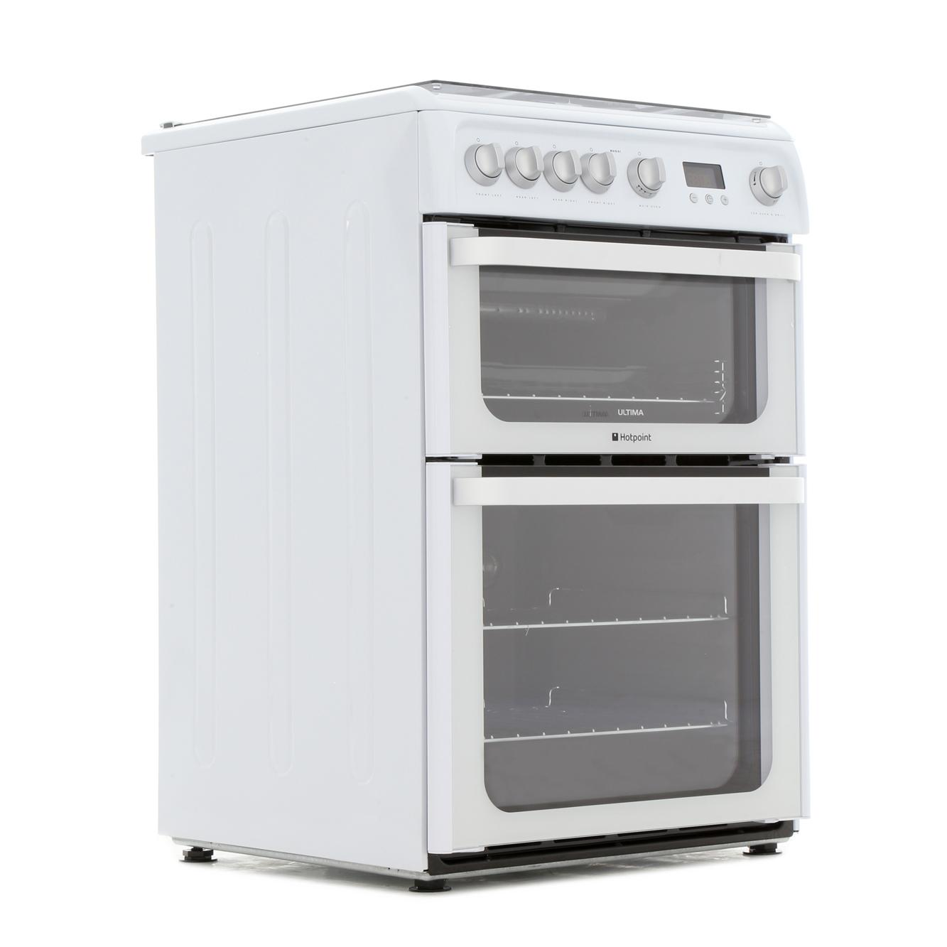 hotpoint ultima hug61p freestanding 60cm gas cooker with. Black Bedroom Furniture Sets. Home Design Ideas