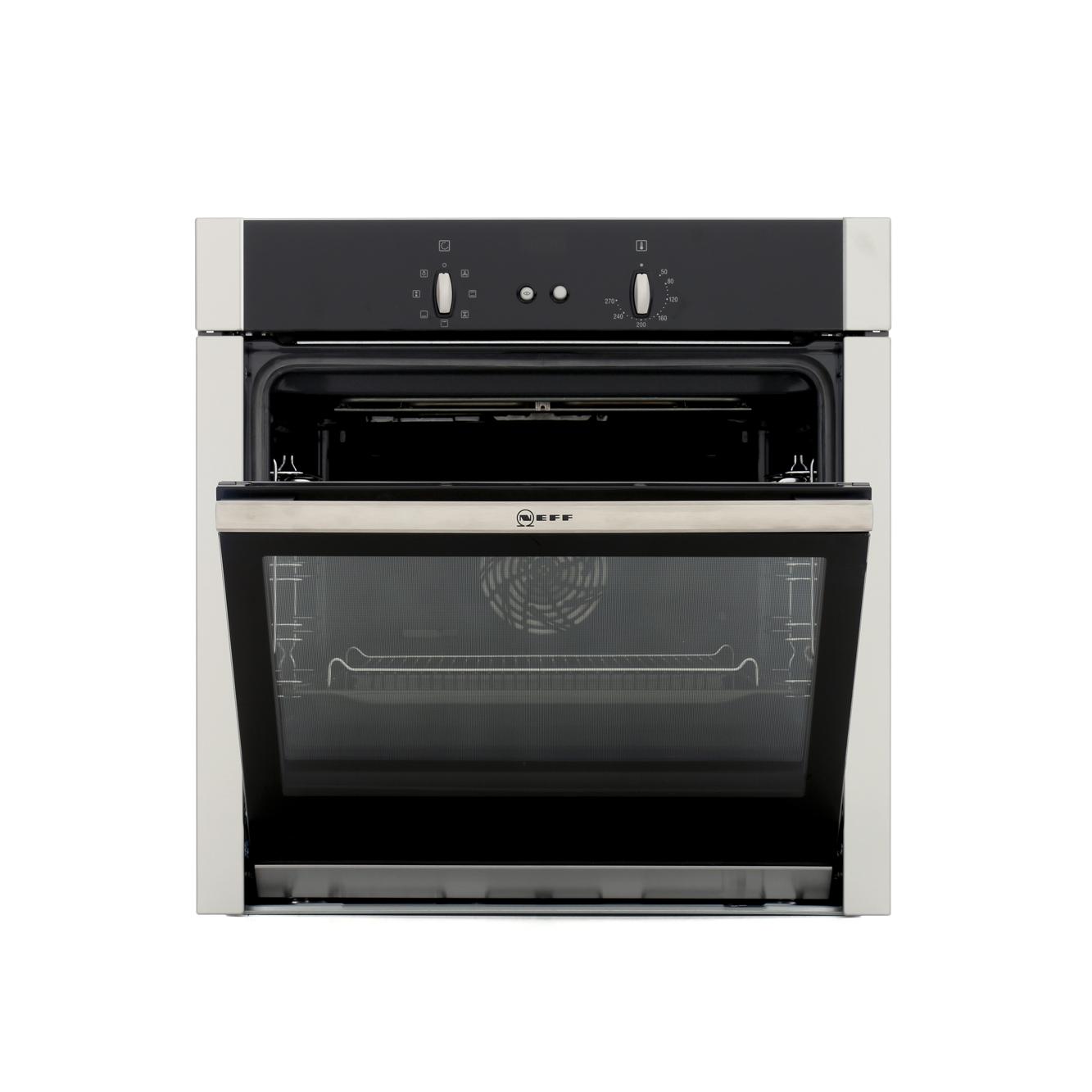 neff b44m42n5gb built in 60cm hide slide electric single oven stainless steel affordable. Black Bedroom Furniture Sets. Home Design Ideas