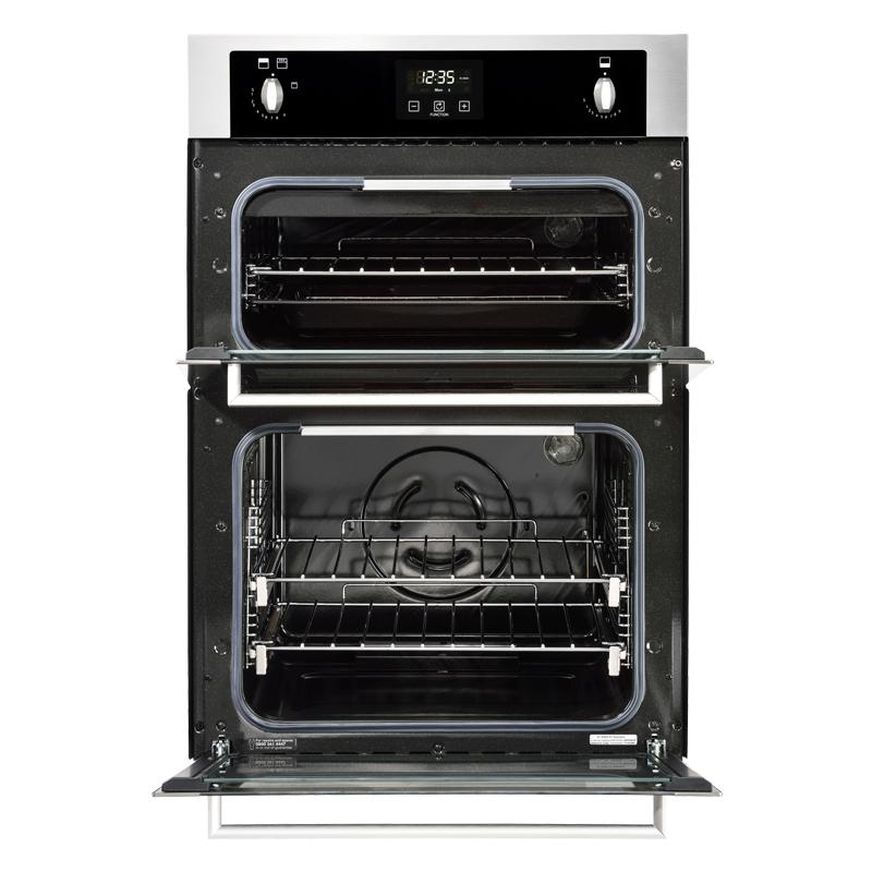 stoves b1900g built in 90cm gas double oven stainless. Black Bedroom Furniture Sets. Home Design Ideas
