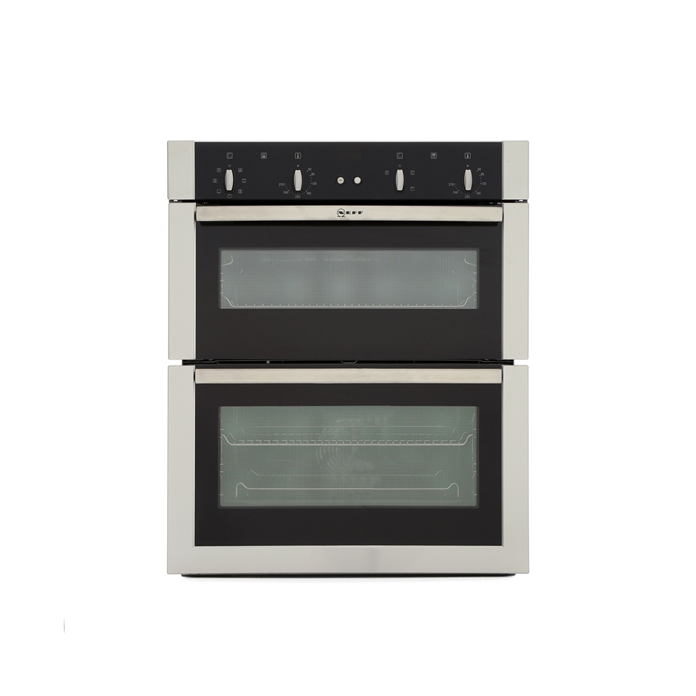 neff u17m42n5gb built under 70cm electric double oven stainless steel affordable appliances. Black Bedroom Furniture Sets. Home Design Ideas