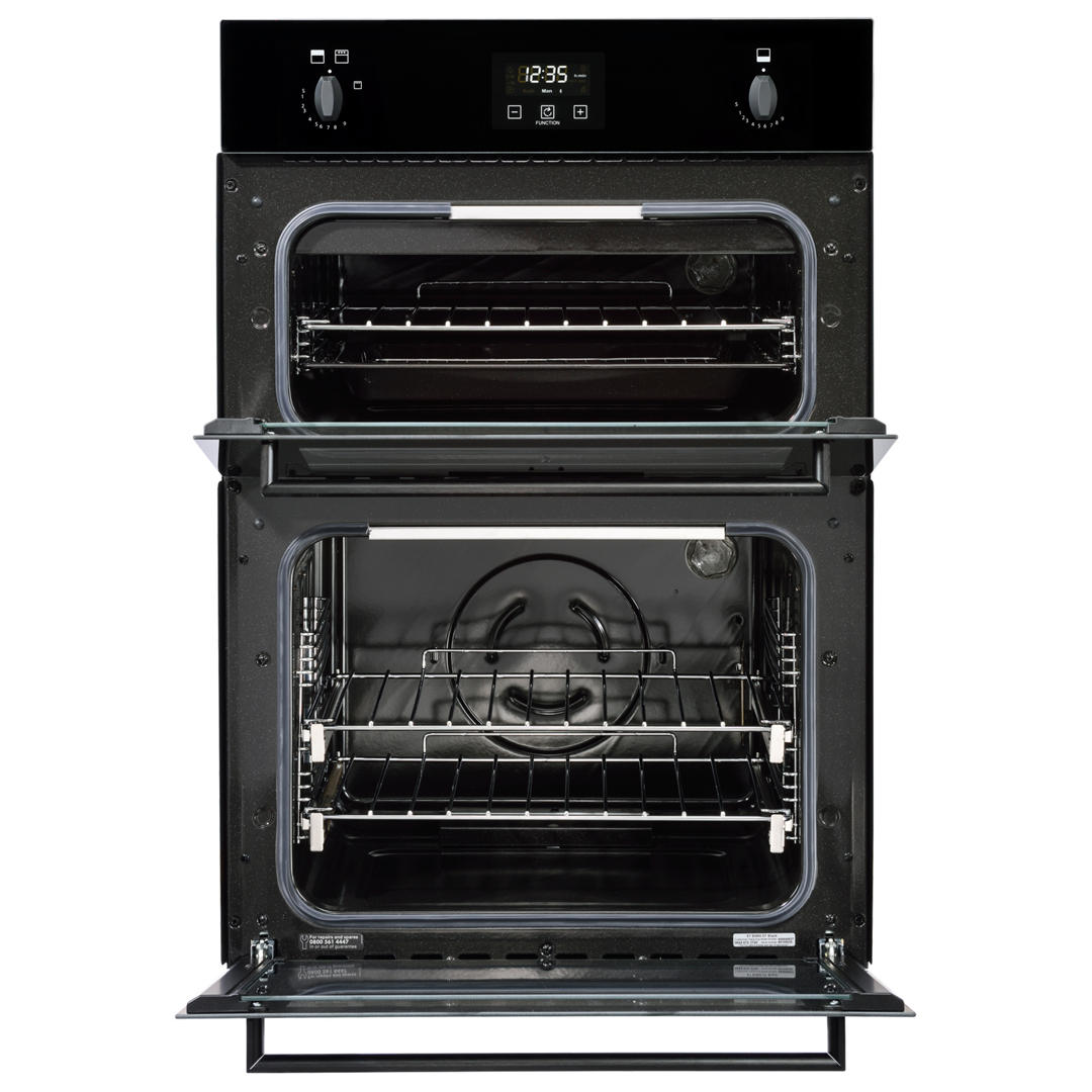 stoves b1900g built in 90cm gas double oven black with. Black Bedroom Furniture Sets. Home Design Ideas