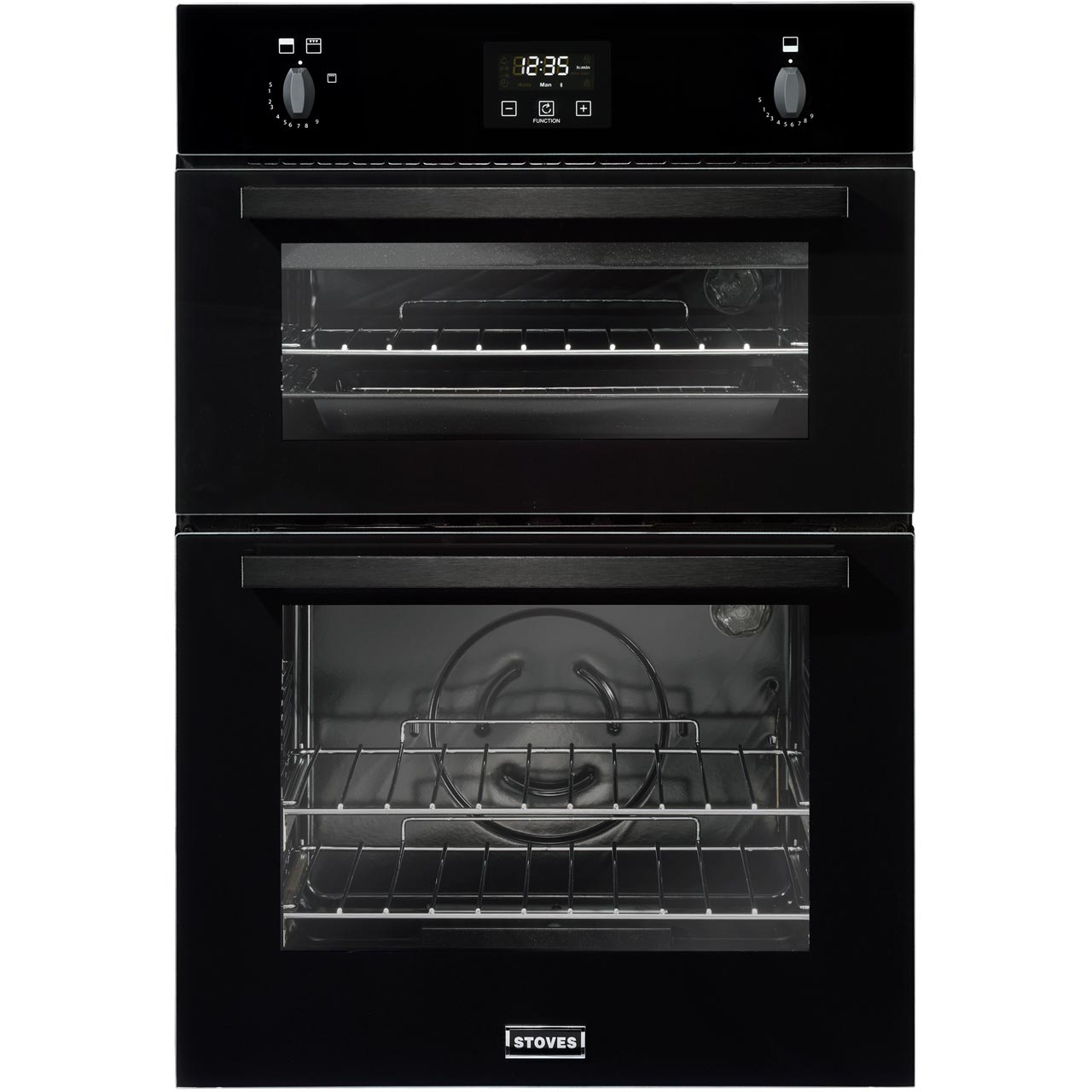 Stoves B1900g Built In 90cm Gas Double Oven Black With Electric